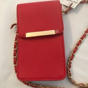 Red lord + taylor phone purse
